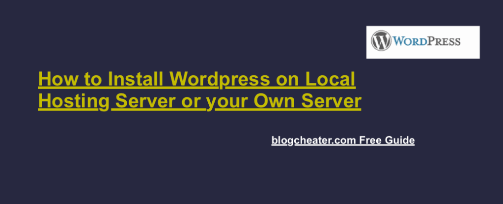 Install WordPress on Local Hosting | Non Branded Hosting