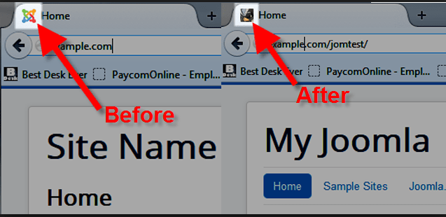 Add Favicon in Joomla