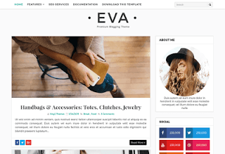Blogger Templates 2018 EVA FASHION BLOGGER TEMPLATE