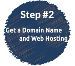 buy domain name and hosting to make a blog