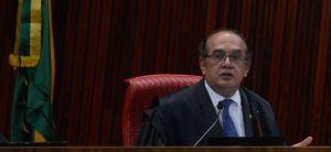 TSE realiza sessão plenária extraordinária para o julgamento de processos. Na foto, o ministro Gilmar Mendes, relator das contas da campanha eleitoral 2014 da presidenta Dilma (Fabio Rodrigues Pozzebom/Agência Brasil)