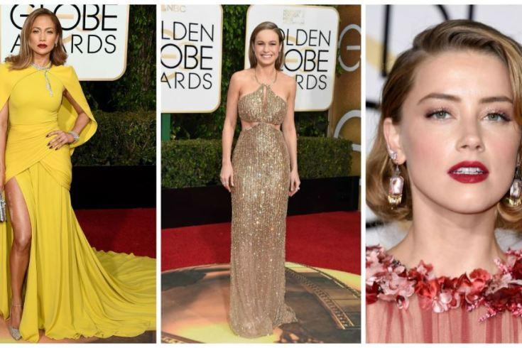 vestidos usados no golden globes 2016 vestido longo amarelo vestido longo dourado