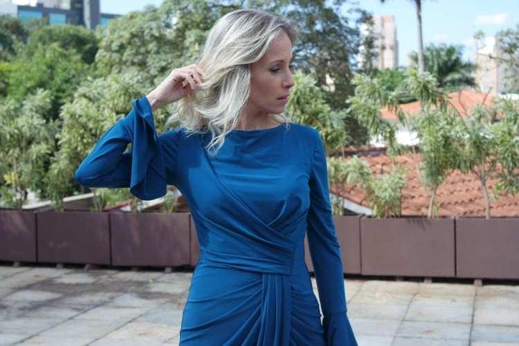 vestido azul petróleo alphorria