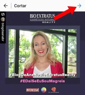 repost for instagram seta azul