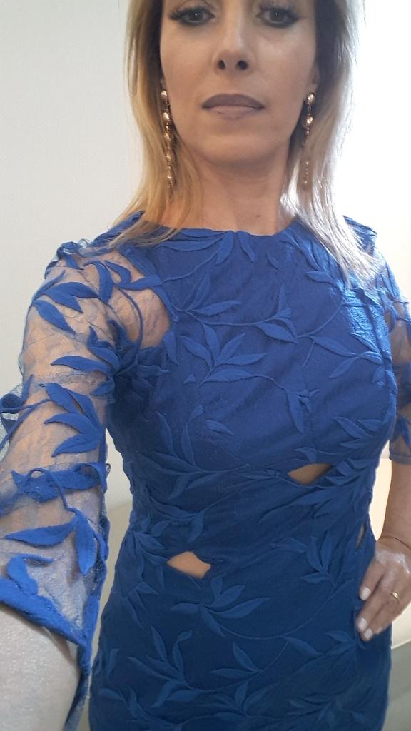 outlet alphorria vestido renda azul blog da ana