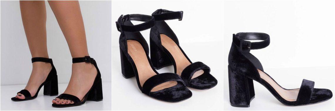 sandália veludo fast fashion peça renner blog da ana