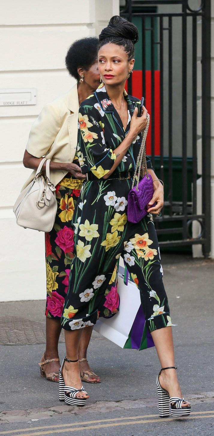 Celebrities arriving at Wimbledon, London, England, 14 July 2018