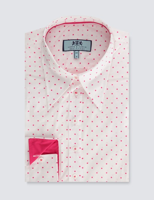 womens-white-and-pink-spot-semi-fitted-vintage-shirt-single-cuff-SNDFV001-N17-129993-500px-650px