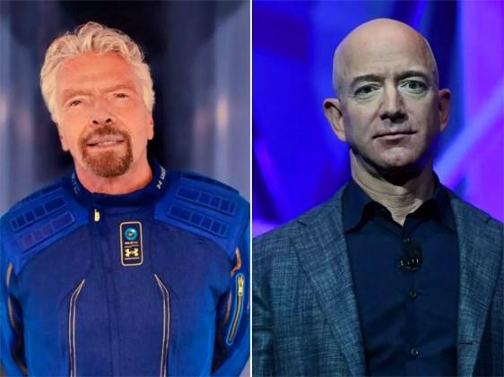 Richard Branson e Jeff Bezos