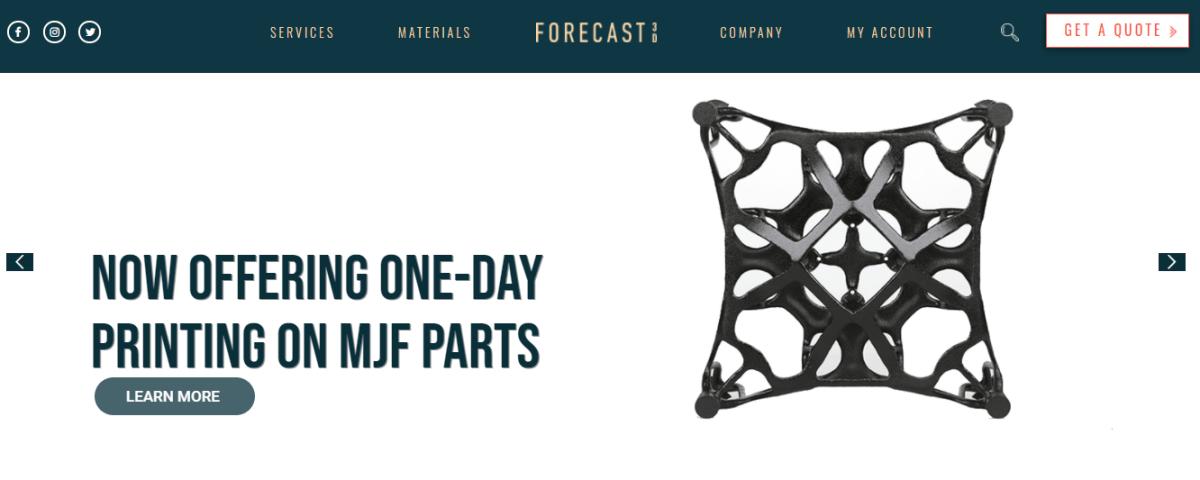 Website da Forecast 3D