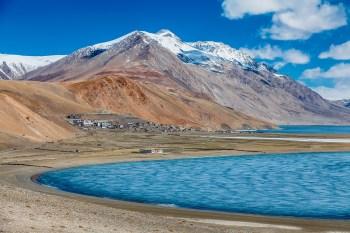 Lago de sal na Bolívia