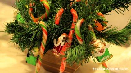 Arvore de natal com pirulitos