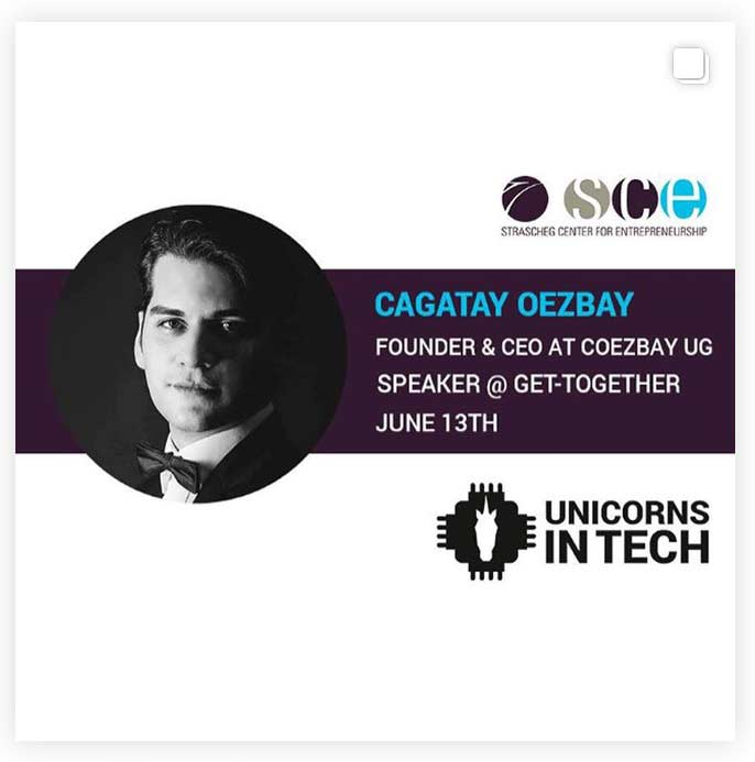 Speaking at Unicorns in Tech Cagatay Oezbay