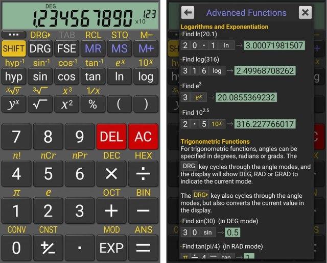 app calculadora grafica para android gratis realcalc