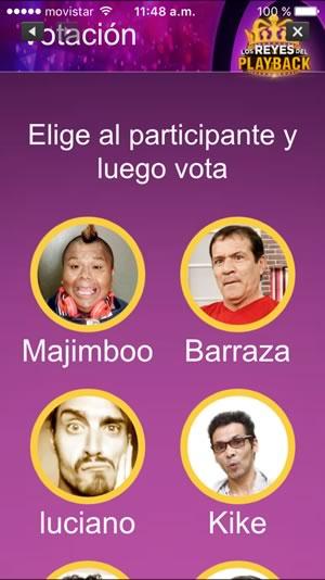 app reyes del playback elegir