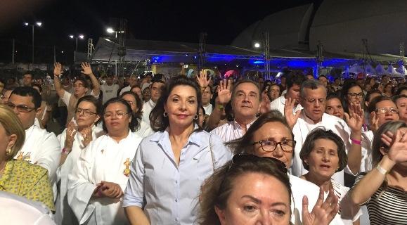 """Senador José Agripino e Anita participam do Show """"Evangelizar é preciso"""""""