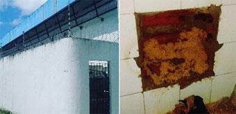 Descoberta da escavação acontece por volta das 19h30, na cela 9 da unidade prisional.