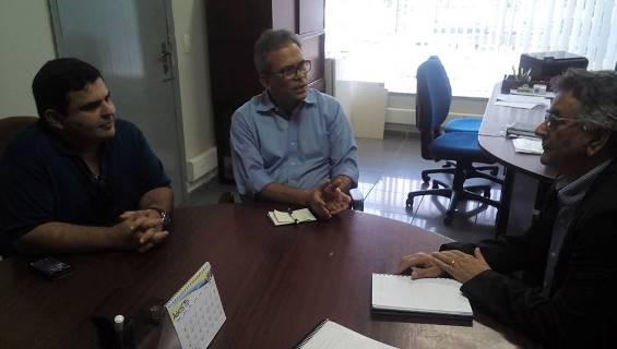 Deputado Hermano com Superintende do DNIT e secretário de Obras de Guamaré