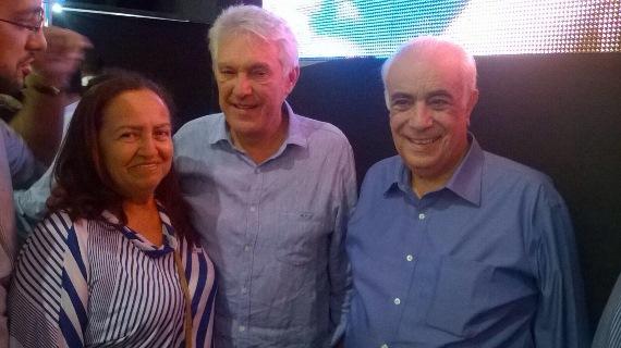 Ex-vereadora Fátima com João Maia e o ministro Antônio Carlos no Encontro do PR Mulher