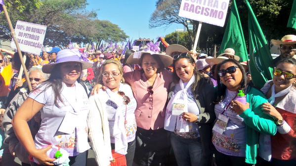 Deputada Fátima Bezerra na 5ª Marcha das Margaridas