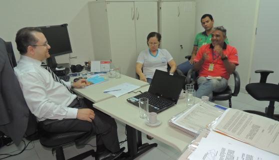 Reunião na Promotoria para criação da Plataforma  de Desenvolvimento Social Sustentável