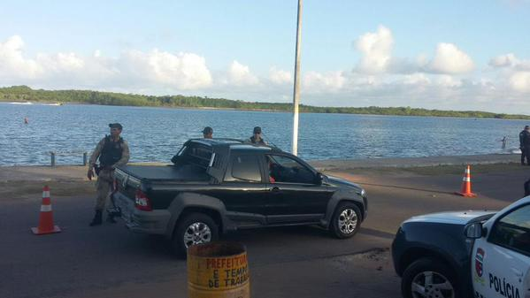 Policiamento intensificado na área de  Cunhaú em Canguaretama(foto/Divulgação-pm)