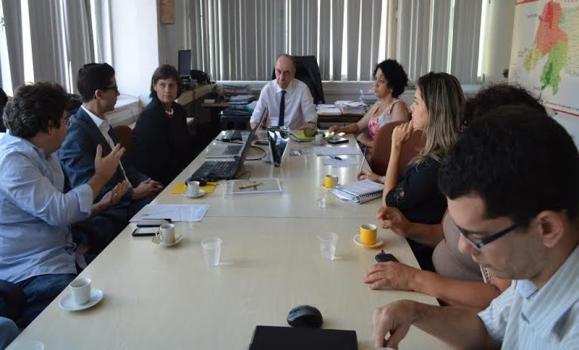 O secretário de Saúde, Ricardo Lagreca, recebeu ontem(15) representantes do consórcio Vasserman e da gerência da Unidade Executora Setorial do Projeto RN Sustentável