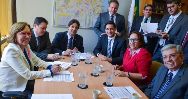 Reunião da bancada do RN no Congresso Nacional