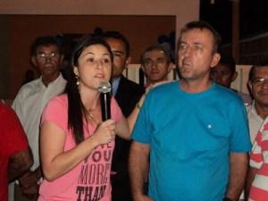 Prefeita Ceiça Lisboa(DEM) e ex-prefeito Felipão(PMDB)