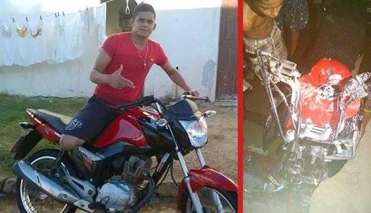 Motociclista morreu no local do acidente