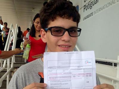 Estudante de São Paulo do Potengi é eliminado do Enem