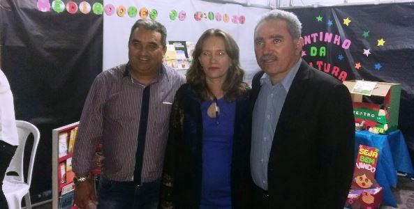 Vereador Holderlin, Vanusa(diretora da Dired) e Mestre Raimundo(vereador)