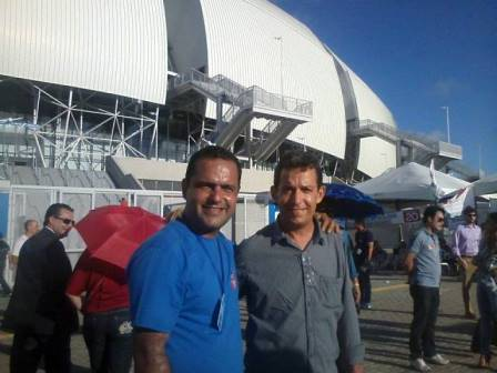 Presidente eleito da OAB/RN, Dr. Paulo Coutinho ao lado do amigo o advogado Dr. Mário Júnior (Foto: cedida via WhatsApp)