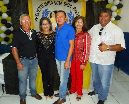 Luiz Fernandes, Secretária Jozélia, vereadores: Jacson, Francileide e Chiquinho