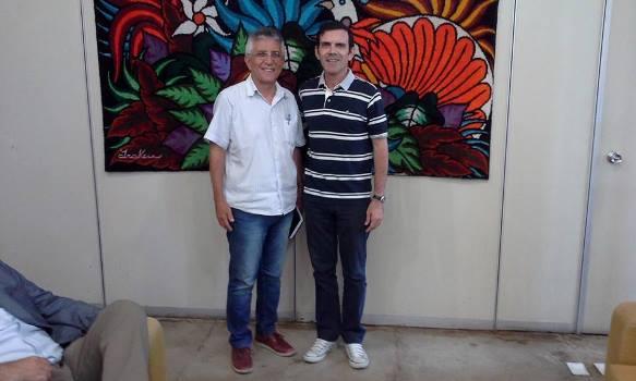 Vereador Aldo com o presidente da Emater