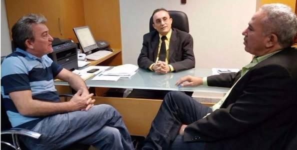 Deputado Souza, Leandro Prudêncio e o vereador Mestre Raimundo
