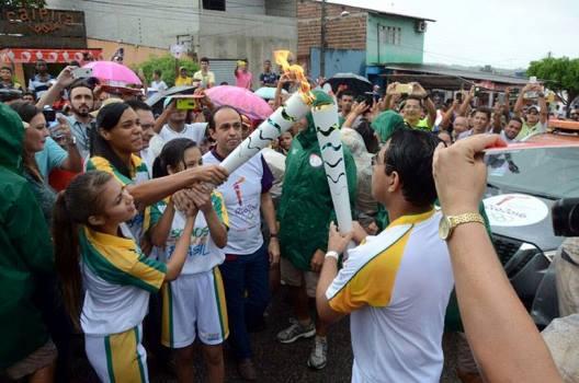 Tocha Olímpíca em São José do Mipibu