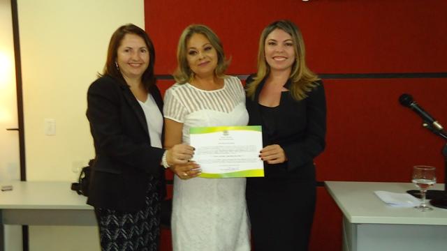 Prefeita Suely Fonseca, promotora Engracia e juíza eleitoral Maria Nivalda