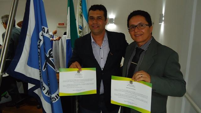 Amarildinho e Júnior de Guaíra diplomados ontem pela Justiça Eleitoral