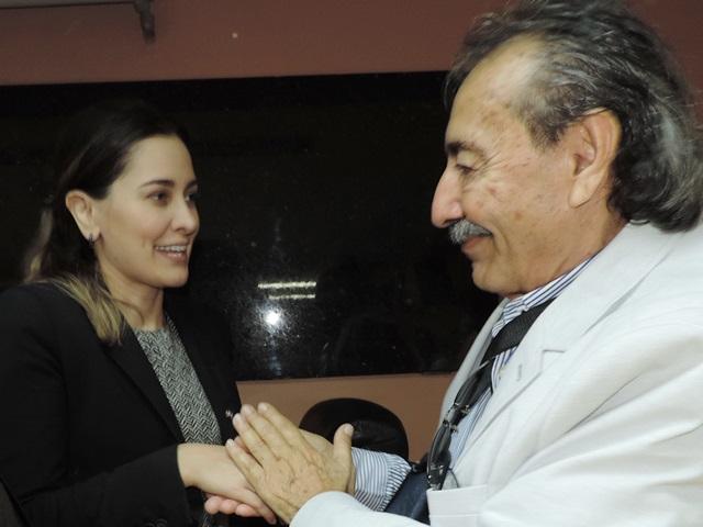 A Exma. Srª Juíza Drª Maria Cristina Menezes parabeniza o deputado José Adécio por sua atuação política em prol de todo o Estado do Rio Grande do Norte