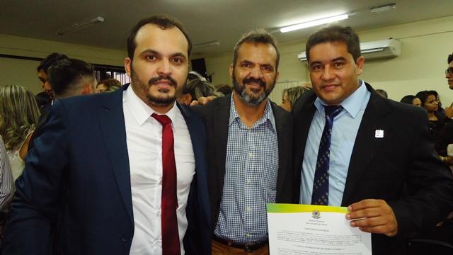 Robenilson Jr. ex-prefeito Robenilson e prefeito eleito Júnior Marques