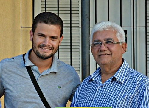Blogueiro André e o prefeito Valdmir