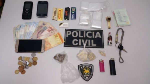 Material apreendido pela polícia(foto: PC/Divulgação)