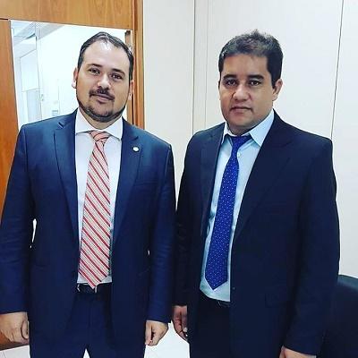 Deputado federal Beto Rosado e o prefeito Júnior Marques