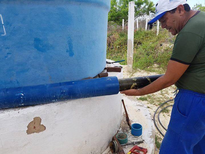 Troca de membranas e filtros no município de Alto do Rodrigues. -