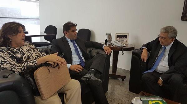 Prefeito Júnior Marques recebido pelo senador José Agripino