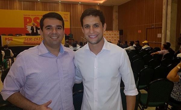 Vereador Rodrigo Lucas e deputado federal Rafael Motta