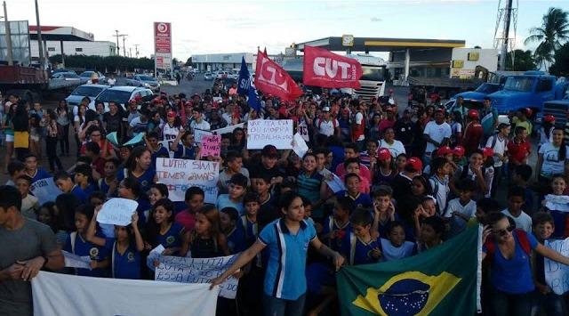 Protesto contra reformas Trabalhista e da PrevidÊncia em João Câamra (Foto :