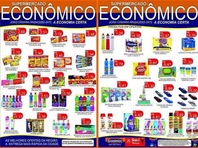 Resultado de imagem para Saiu o panfleto com ofertas de fim de ano no Supermercado Econômico em João Câmara
