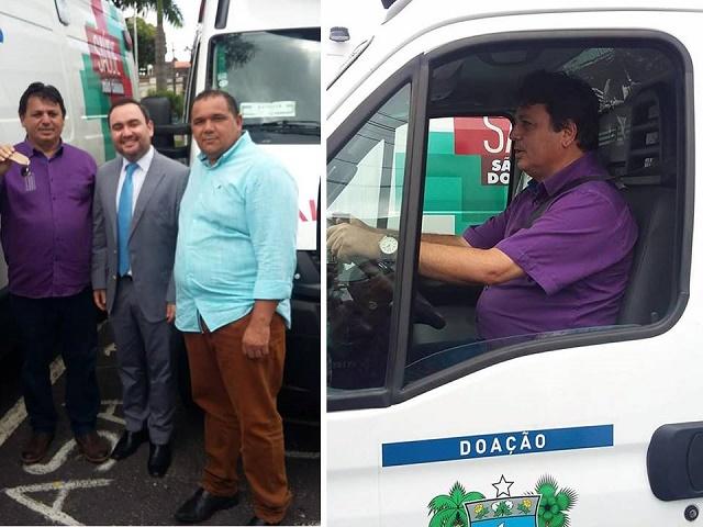 Resultado de imagem para João Câmara: Prefeito Maurício e comitiva recebem ambulância semi-UTI do deputado Gustavo Fernandes